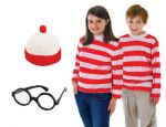 WHERES WALLY OR WENDA FANCY DRESS COSTUME